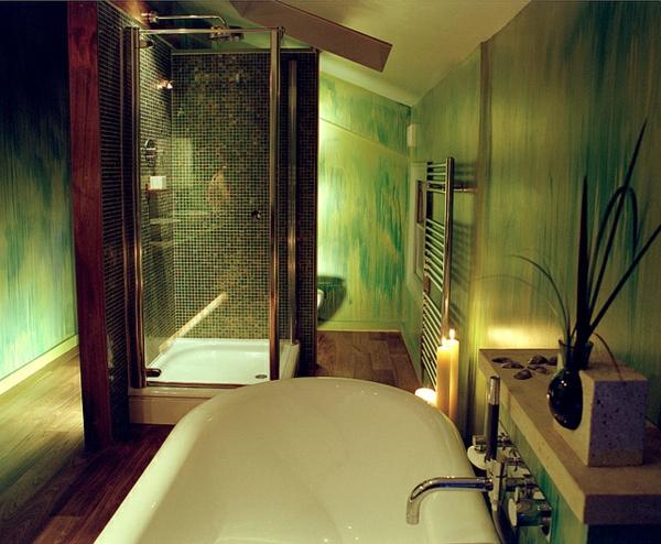cabine-de-douche-intégrale-dans-une-salle-de-bains-verte-énigmatique