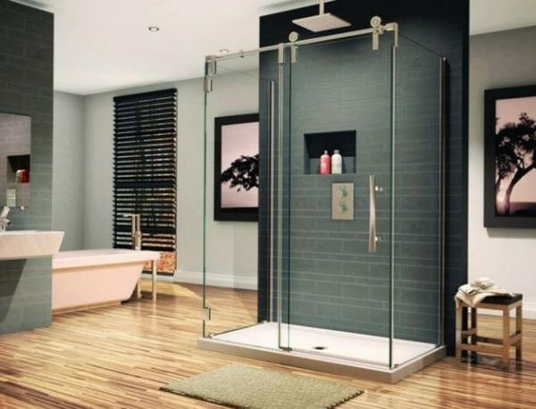 Une cabine de douche int grale pour un meilleur confort dans la salle de bains - Douche sur plancher bois ...