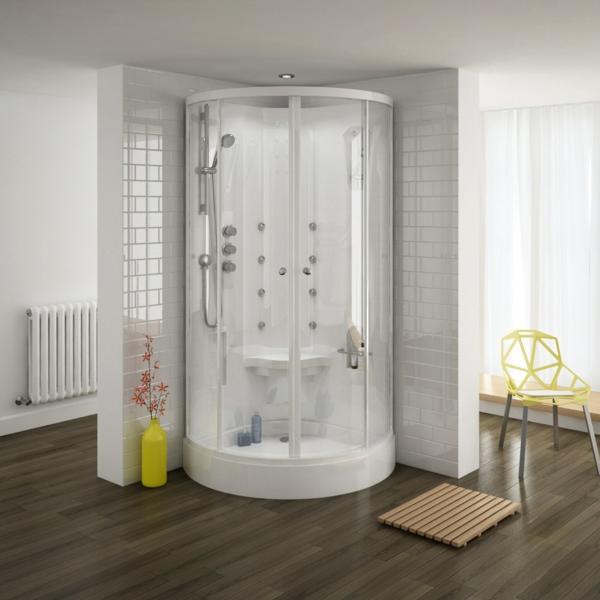 cabine-de-douche-intégrale-plancher-en-bois