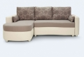 Le canapé d'angle convertible en beige