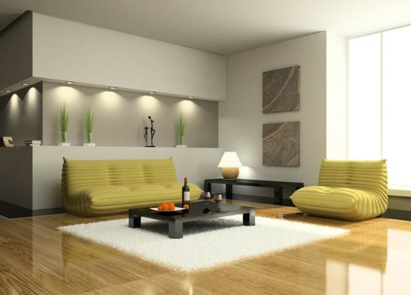 canapé-en-jaune-meuble-design-unique