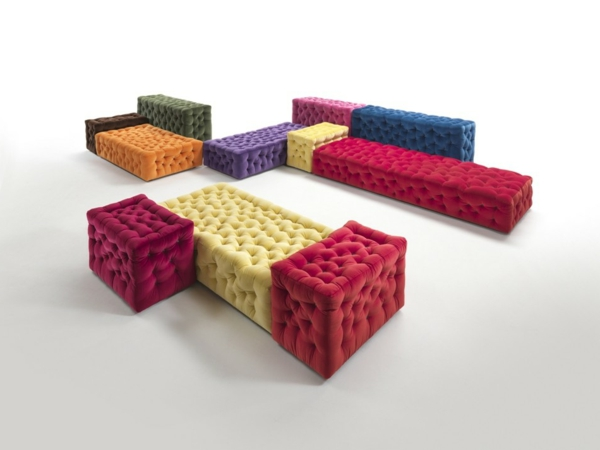 canapés modulables, design joli