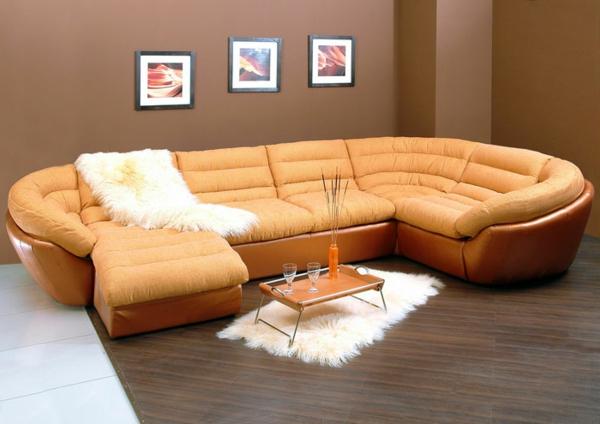 le canap d 39 angle convertible en beige. Black Bedroom Furniture Sets. Home Design Ideas
