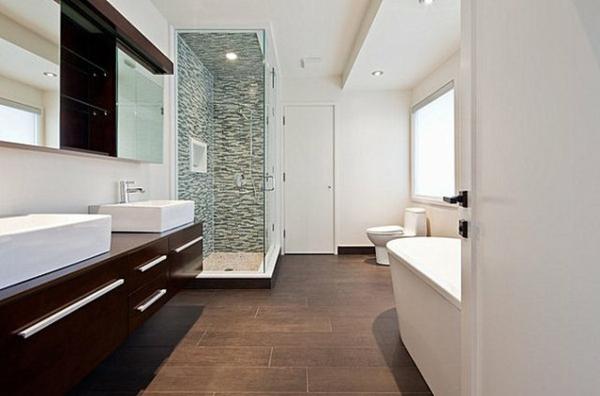 Salle de bain parquet fonce ~ Solutions pour la décoration ...