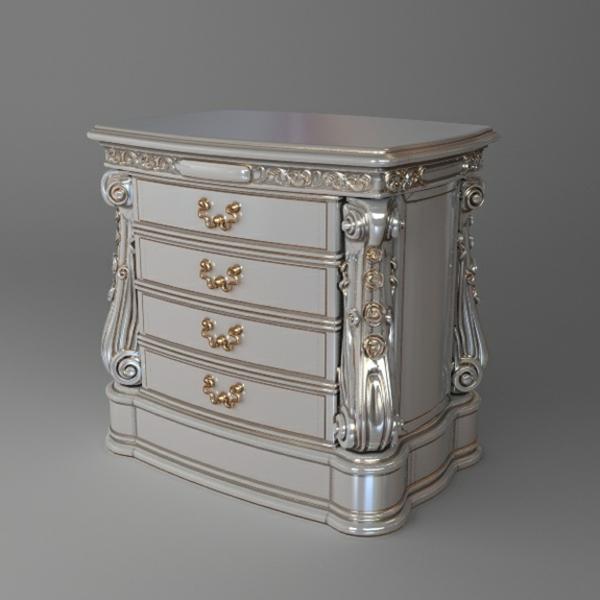chevet-baroque-design-blanc-ornements-dorés