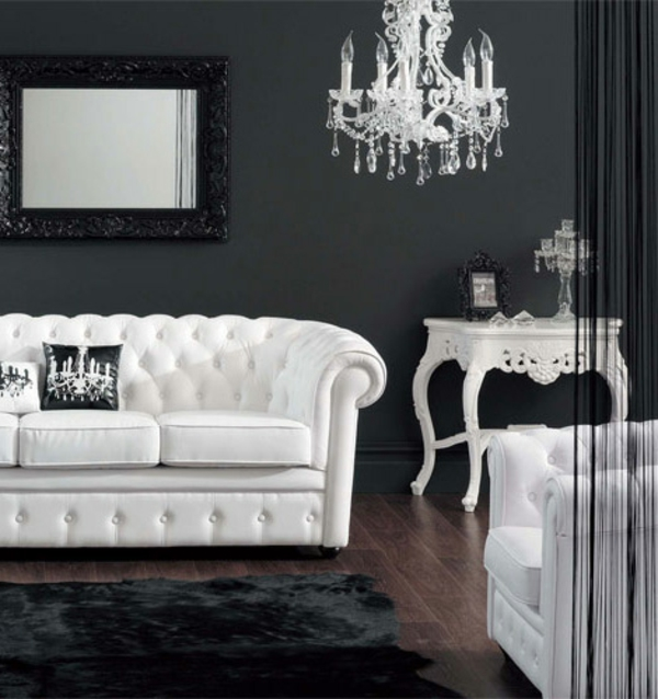 chevet-baroque-une-chambre-noire-à-ameublement-blanc
