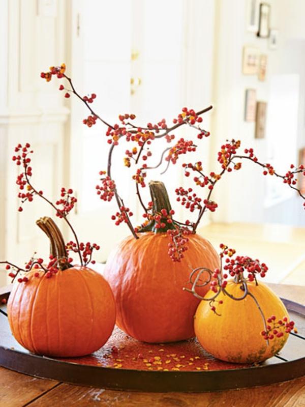 citrouille-de-halloween-décoration-avec-es-branches