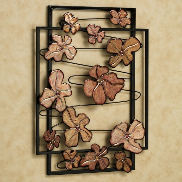 classy-floral-wall-art-black-metal-frame-spring-chorus-theme-resized