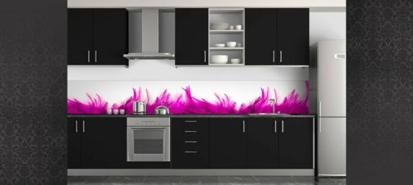 La cr dence en verre pour la cuisine for Deco murale cuisine design