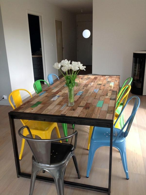 cool-déco-du-cuisine-avec-des-chaise