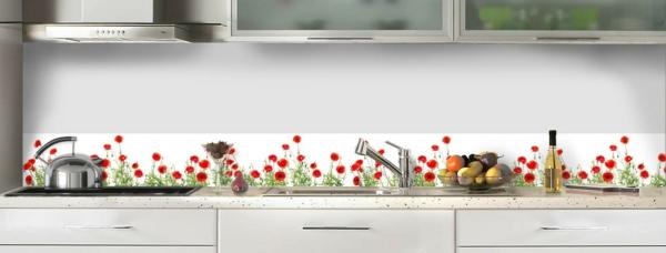 La cr dence en verre pour la cuisine for Credence autocollante cuisine