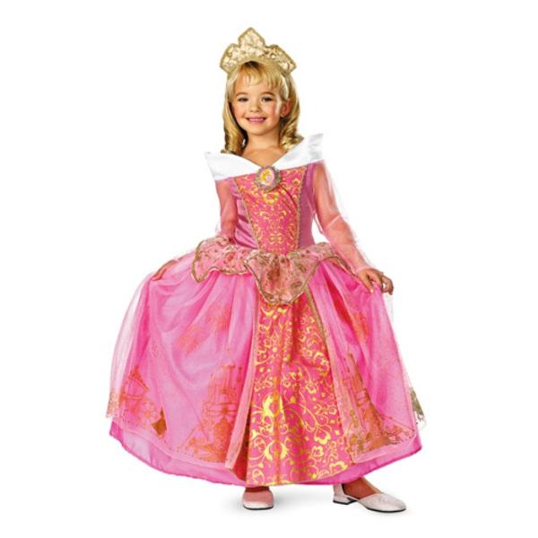 costume-de-princesse-en-rose-déguisement-Halloween-d'enfant