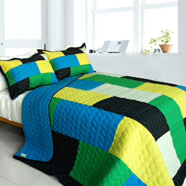 couvre-lit-patchwork-en-bleu-et-vert