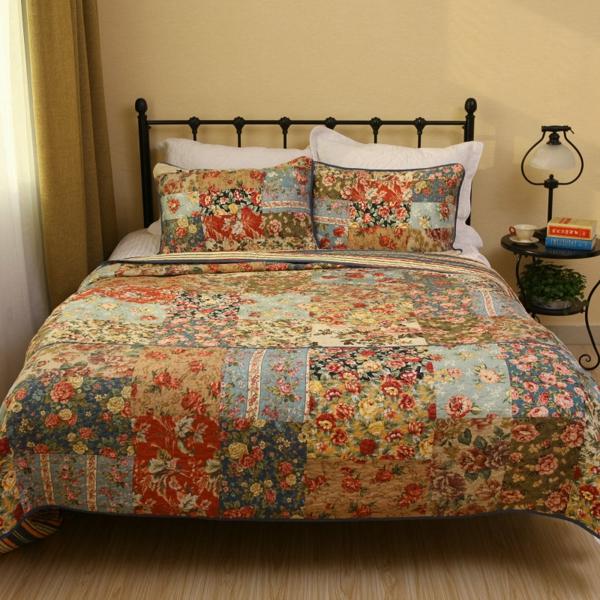 couvre-lit-patchwork-un-lit-américain