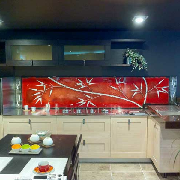 La cr dence en verre pour la cuisine for Idee de credence cuisine