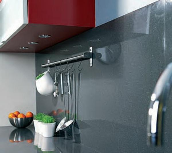La cr dence en verre pour la cuisine for Credence cuisine grise