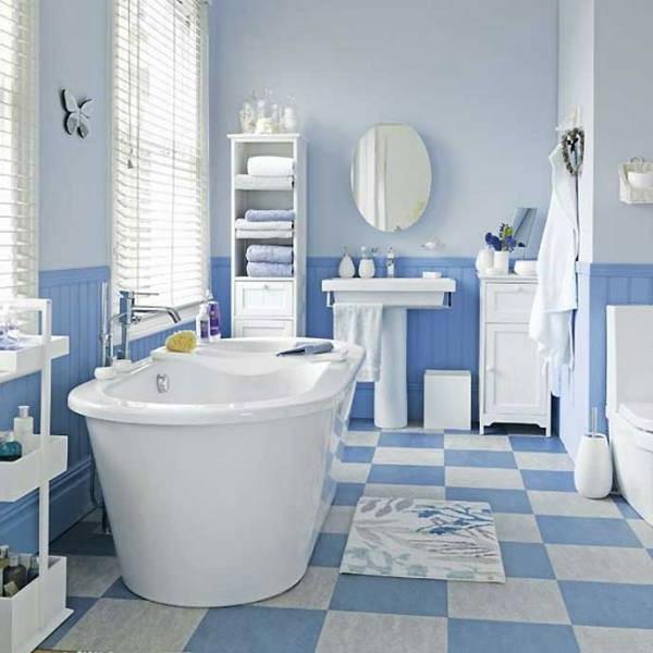 D co salle de bain style marin - Deco bord de mer salle de bain ...