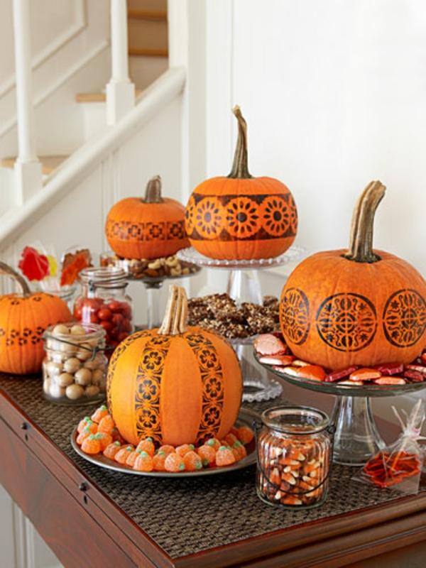 décoration-avec-citrouille-de-halloween