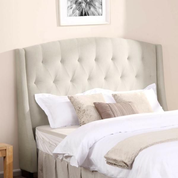La t te de lit en coussin for Decoration pour lit