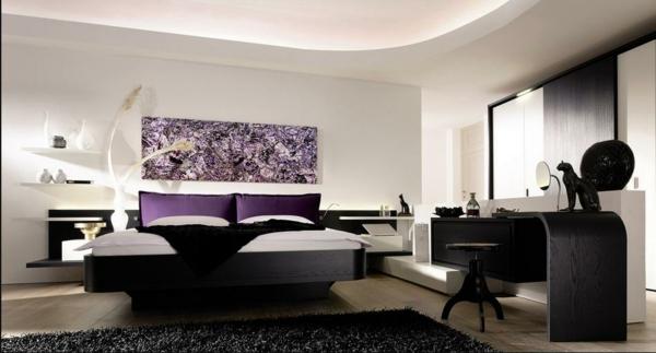 décoration-murale-originale-chambre-à-coucher-luxueuse