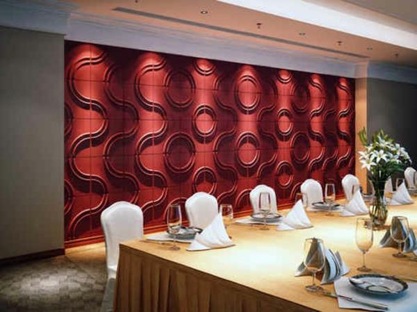 décoration-murale-originale-pannel-rouge-décoratif