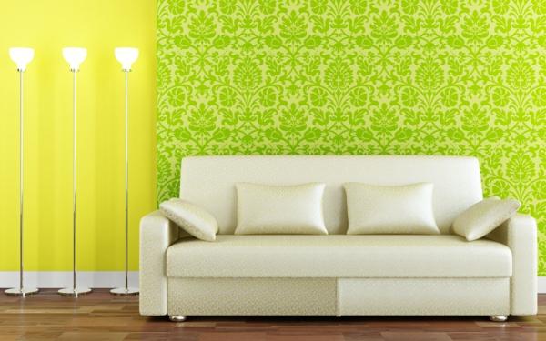 décoration-murale-originale-papier-peint-vert