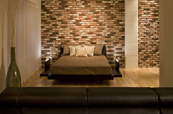 décoration-murale-originale-chambre-à-coucher-romantique