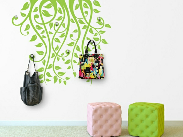décoration-murale-originale-sticker-vert