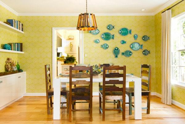 décoration-murale-originale-une-salle-de-déjeuner-fascinante