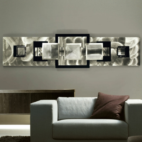 Id es de d coration murale en fer - Decoration murale salon moderne ...