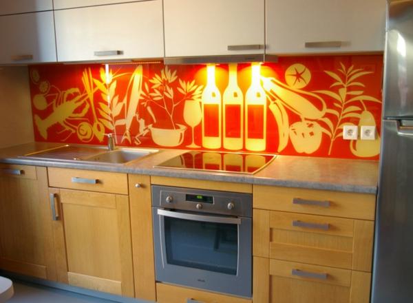 La cr dence en verre pour la cuisine for Deco cuisine dessin