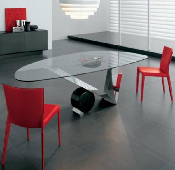 ensemble-table-et-chaise-table-en-verre-et-acier-et-chaises-rouges