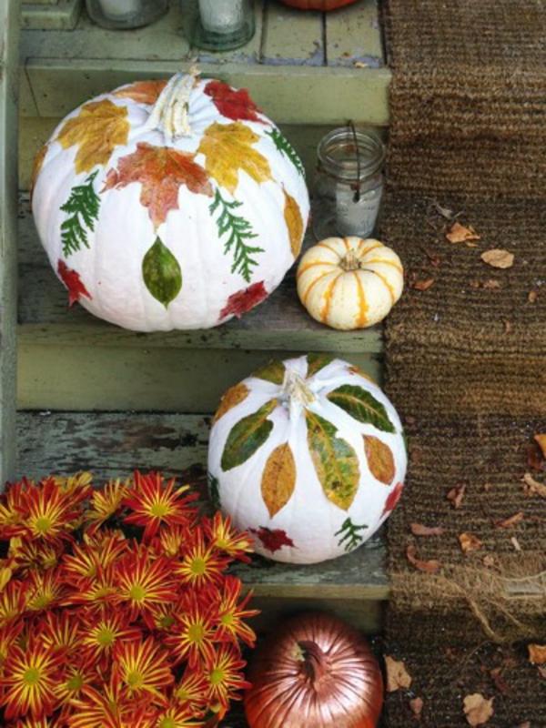 feille-automne-décoration-de-citrouille