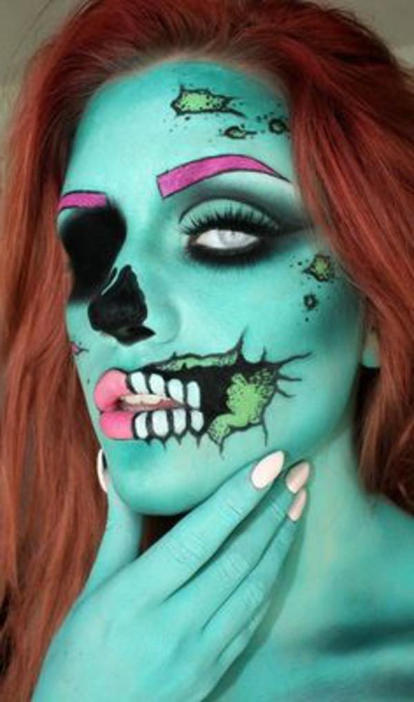 femme-verte-original-maquillage