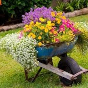 Récup pour extérieur-  idée déco de jardin
