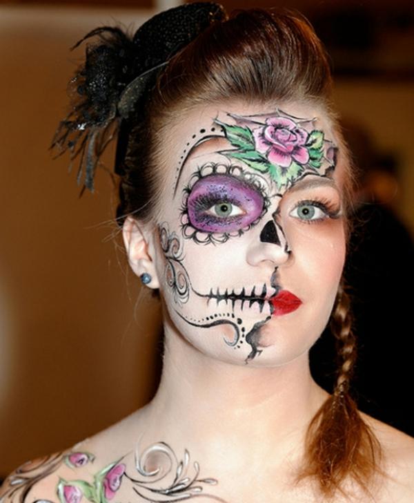 folrale-motif-coloriage-de-halloween-pour-le-visage