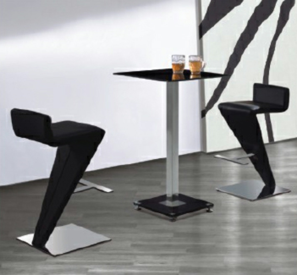 Le tabouret de bar noir for Siege de bar design