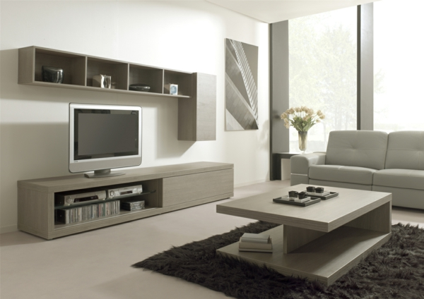 meuble salon bois gris maison design. Black Bedroom Furniture Sets. Home Design Ideas