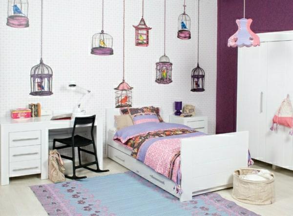 jolie-chambre-denfant-fille-maison-d'oiseau