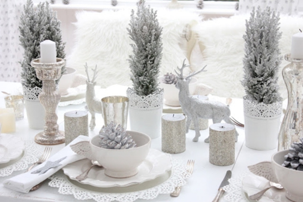 jolie-table-décorer-en-blanc-noel