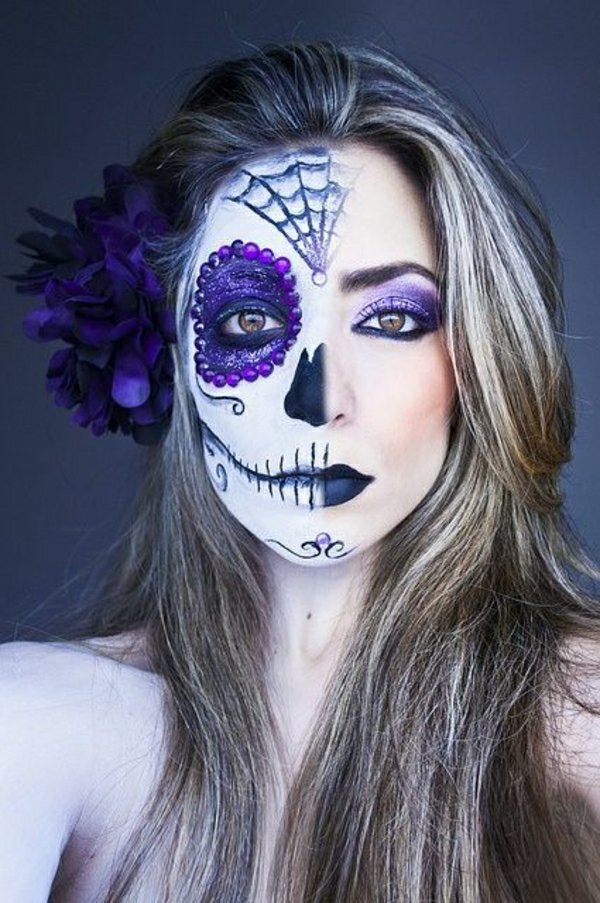 Le tuto du maquillage de halloween artistique - Maquillage mexicain facile ...