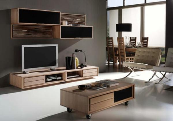 Meuble Salon En Bois Design : Mod?les de meuble tv en bois