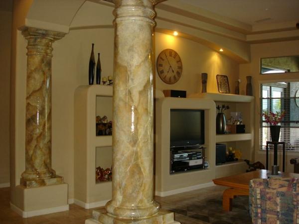 La peinture trompe l 39 oeil imitation de marbre for Trompe l oeil interieur