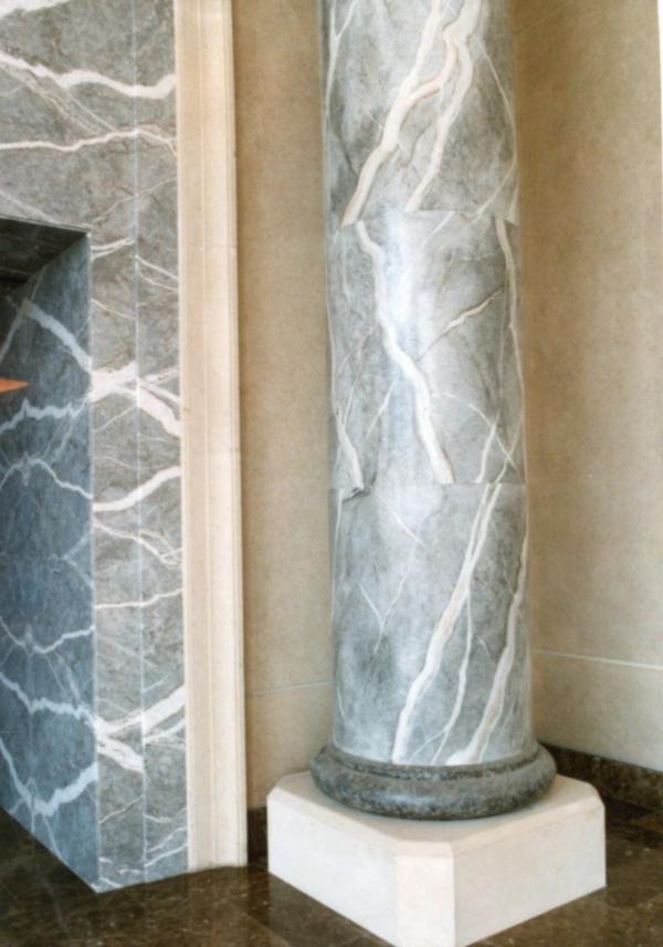 la peinture trompe l 39 oeil imitation de marbre. Black Bedroom Furniture Sets. Home Design Ideas