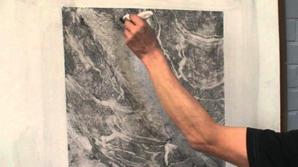 la-peinture-trompe-l' oeil-imitation-de-marbre-en-gris