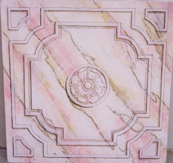 la-peinture-trompe-l' oeil-imitation-de-marbre-faux-marbre-en-rose