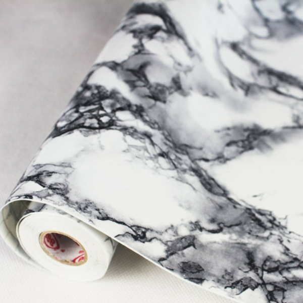 papier peint faux marbre. Black Bedroom Furniture Sets. Home Design Ideas