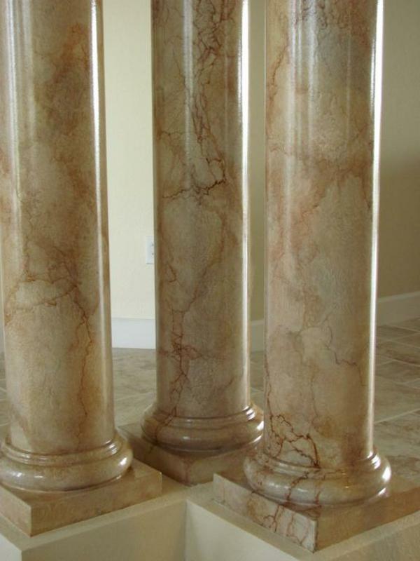 La peinture trompe l 39 oeil imitation de marbre for Interieur artistique