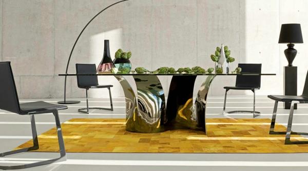 la-table-roche-bobois-table-originale-et-intérieur-magnifique