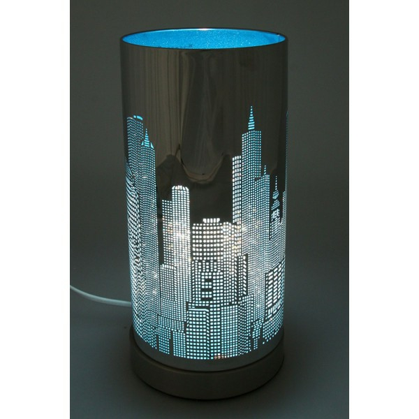incroyable lampe de chevet new york 2 lampe de chevet new york bleu et valdiz. Black Bedroom Furniture Sets. Home Design Ideas